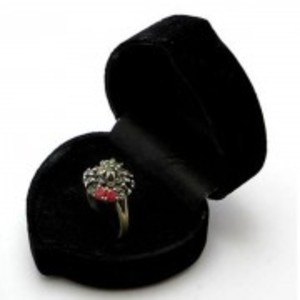 Emerald Sapphire and Ruby Stone Silver Ring GB(5)4397