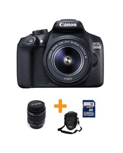 Canon Bundle Offer-EOS-1300D-18MP-DSLR Camera  55mm Lens  16GB Card & Bag
