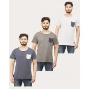 PACK OF 3 COTTON SHIRT WHITE/NAVY /ANTHRA