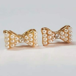 Gold Plated Bow Earring