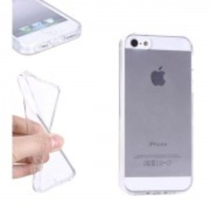 Ultra Thin Clear Gloss Tpu Case For Apple Iphone 5, 5S-Clear