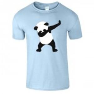 Lightblue Stylish Panda Printed T-Shirt-0485