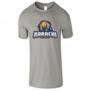 Grey Cotton Karachi King Printed T-Shirt-00437