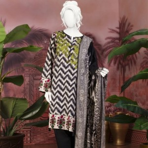 Unstitched 3pcs Eid ul Fiter Collection 2018-JLAWN-S-18-182 Flower