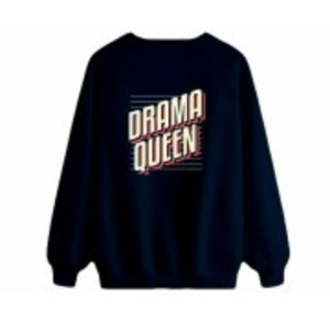 Women's Navy Blue Drama Queen Sweatshirt.