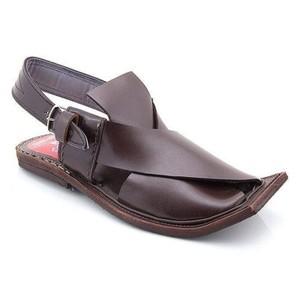 Brown Peshawari Leather Sandals-MM-024