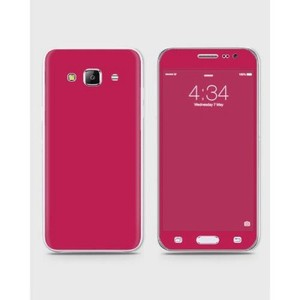 Samsung Galaxy J3 Pro Skin Wrapin Dark Magenta Color-1wall20-56
