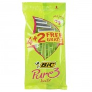 Pack Of 6 Pure3 Lady Razors