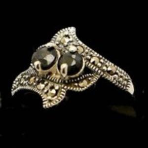 Sapphire Stone Silver Ring GB(5)4913