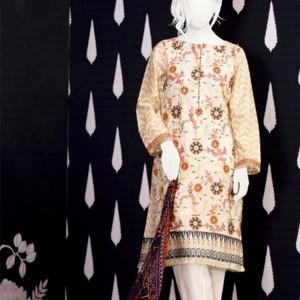 Unstitched 3pcs Eid ul Fiter Collection 2018-JLAWN-S-18-204 Jamdani