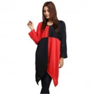 Red Polyester Tunic
