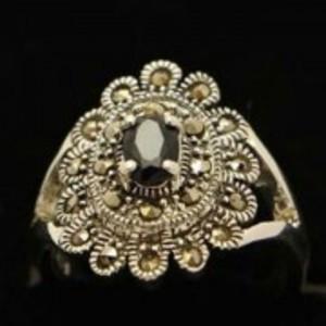 Sapphire Stone Silver Ring GB(5)4901