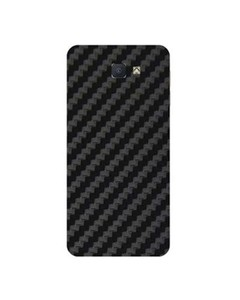 Decor Today Samsung On5 2016 Black Carbon Fiber Texture Mobile Skin-Back & Sides