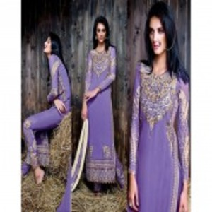 Turquoise Semi Stitched Designer Dress with Dupatta-9053
