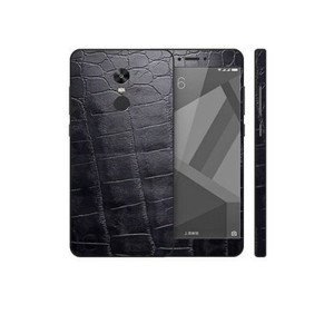 Xiaomi Redmi Note 4X Black Crocodile Leather Texture Skin-DT7424