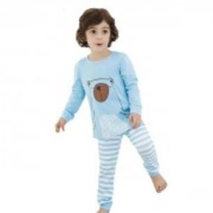 Blue-Bear Top Stripes Pants 2Pcs Set