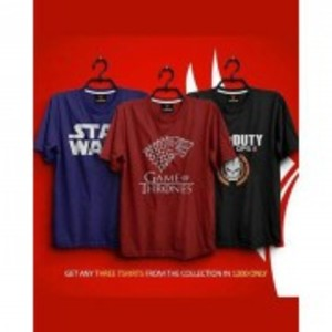 Pack Of 3 Printed T-Shirt-TS108