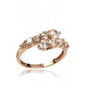 Rhinestone Embellished 18-K Gold Plated Ring