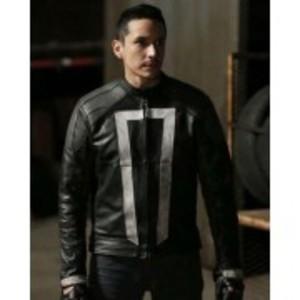 Black Ghost Real Leather Jacket Regular Fit Biker Rider Men