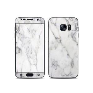 Samsung Galaxy S7 Edge Marble Texture Skin-White-DT9279