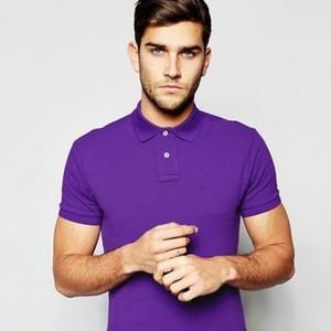 Polo T-Shirt-Purple-DOH777