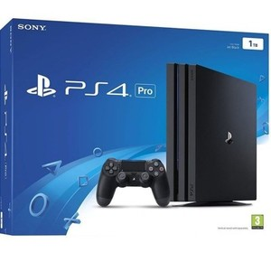 Black PlayStation 4 Pro 1TB-Region 2