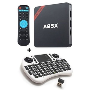 Pack Android A95X Smart TV Box 1GB/8GB + Wireless Touchpad Keyboard