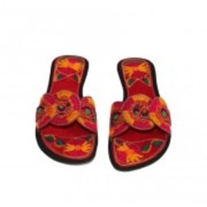 Metro Shoes and Bags Flat Slippers For Women BS-4201 Red