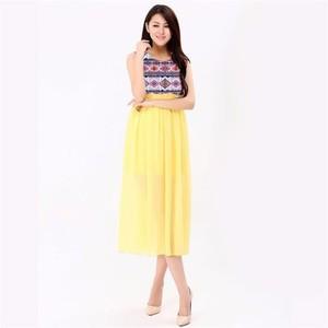 Yellow Summer Maxi Dress -sm- yellow