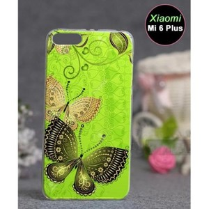Xiaomi Mi 6 Plus Mobile Cover Butterfly Style-Green