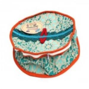 Printed Cotton Zip Roti Basket - Circle