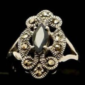 Sapphire Stone Silver Ring GB(5)4916