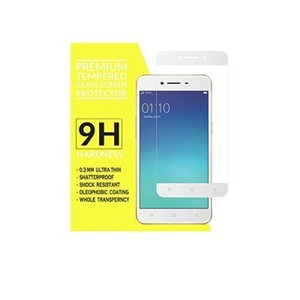 Oppo A37 4D Complete Tempered Glass For Oppo A37 White