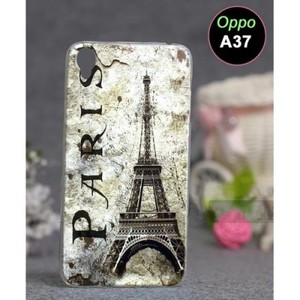 Oppo A37 Mobile Cover Eiffel Tower Style-Grey