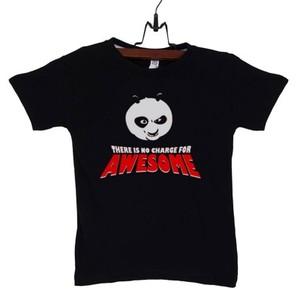 Black Kung Fu Panda Cotton T-Shirt-CK-08