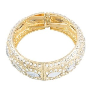 Rose Golden Gold Plated Zirconia Traditional Bangle For Her jh705