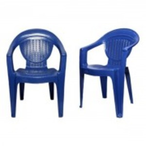 Stylish Plastic Outdoor Chair Set of 2-Blue