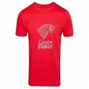 Red Game Of Thrones Printed T-Shirt