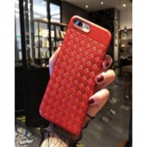 Weave Leather Look Back Cover For Oppo A37 - Red