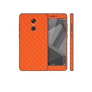Xiaomi Redmi Note 4X Orange Carbon Fiber Texture Skin-DT7441