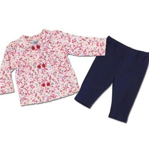 Pink Corduroy Baby Girl Frock Style Shirt With Trousers