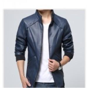 Slimfit Stylish Casual Blue Jacket Faux Leather  41 Ot  Blue