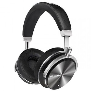 BLUEDIO T4 Turbine - Active Noise Cancelling Over-Ear Swiveling Wireless Bluetooth Headphones With Mic - Black