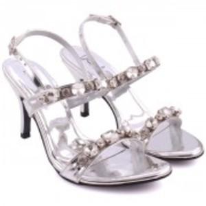 """AILSA"" Adorned Open Toe Ankle Strap Stiletto Heel Sandals"