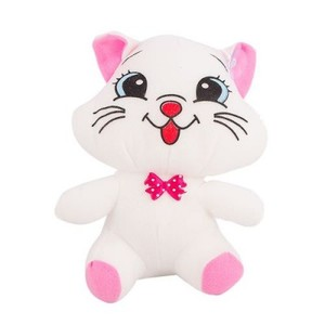 "Cute Hanging Stuffed Toy  8"" - White Cat"