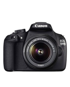 Canon EOS 1200D-18 MP-1.5-10x-18-55mm Lens-DSLR Camera-Black