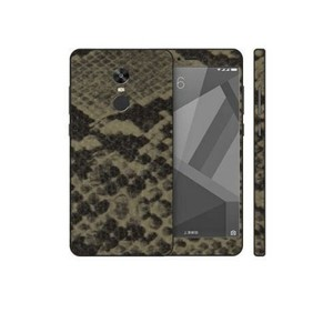 Xiaomi Redmi Note 4X Grey Brown Snake Leather Texture Skin-DT7439