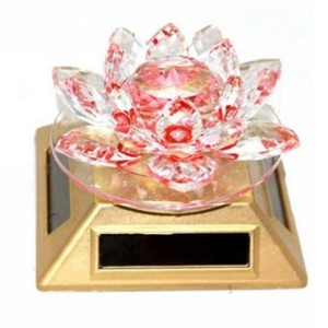 Flower Style Show Piece Solar Light  - Pink