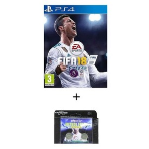 Pack of 2-FIFA 18 DVD PS4 Game & Kontrol Freeks
