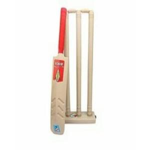 Cricket Bat and Wicket Set For Kids-Beige